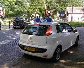 Fiat Punto achterzijde - Autorijschool Ans